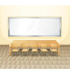 An empty meeting room vector image
