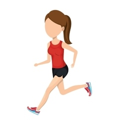Woman running character athlete vector