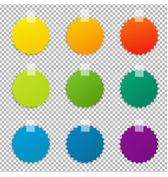 Color labels set vector