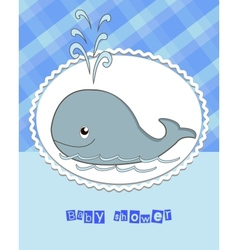Pictures from the whale for bride-kid vector