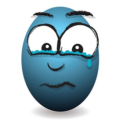 Emotions eggs coloured crying vector