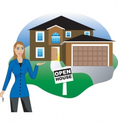 real estate open house vector image