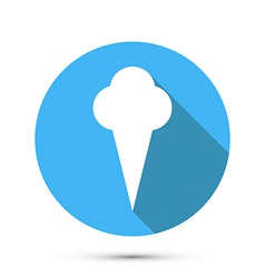 Ice cream flat style icon vector