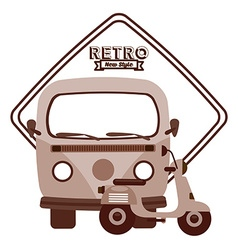 Retro lifestyle vector
