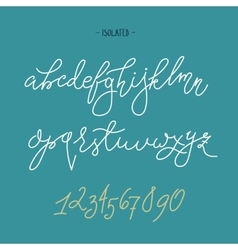 Handwritten pointed pen font vector