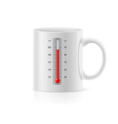 Cup with thermometer vector