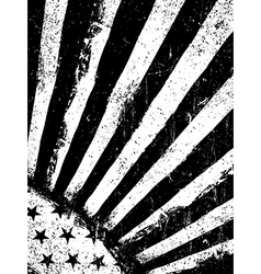 Stars and rays monochrome negative photocopy vector