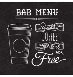 Bar menu of coffee proposal vector