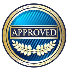 Approved Blue Label vector image vector image