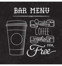 Bar menu of coffee proposal vector