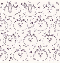 Bear background seamless vector