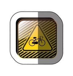 Bike symbol roadsign vector image