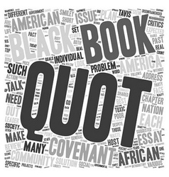 Book review the covenant with black america text vector