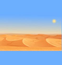 Cartoon nature empty sand desert landscape vector image