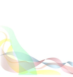 Colored ribbons background or cd cover vector