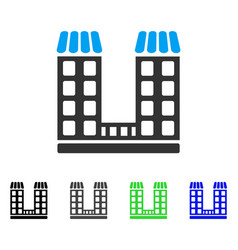 company buildings flat icon vector image