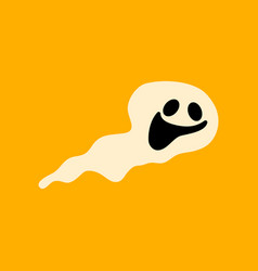 flat icon stylish background halloween ghost vector image