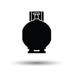 Gas cylinder icon vector
