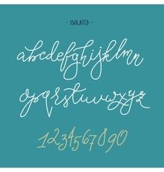 Handwritten pointed pen font vector
