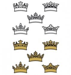 heraldic crowns vector image vector image