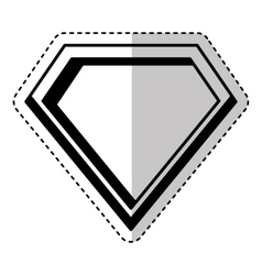 Hero shield isolated icon vector