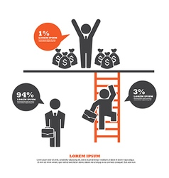infographic Template with Businessman Climbing Lad vector image vector image