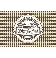 Logo for oktoberfest in the pub or bar during the vector