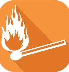 Matchbox stick icon vector