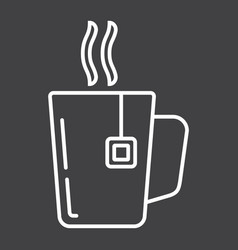 Mug of tea line icon business and breakfast vector