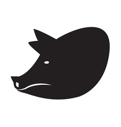 Pig head silhouette vector