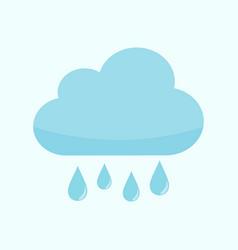 Rainy cloud weather graphic vector