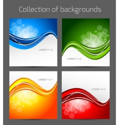 Set of wavy backgrounds vector image