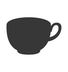 single mug icon vector image