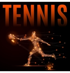tennis player polygon vector image