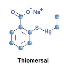 Thiomersal organomercury compound vector