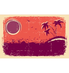 tropical backgroundAbstract grunge vector image
