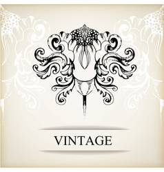 Vintage elegant background for invitations vector image vector image