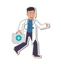 Doctor or medic icon vector