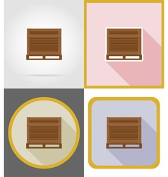 delivery flat icons 01 vector image