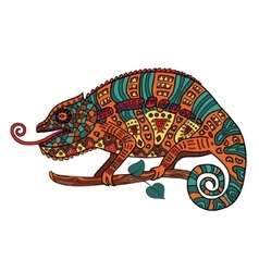 Color image of a chameleon vector