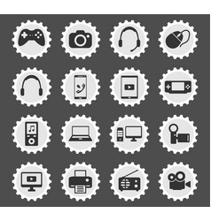 Gadgets simply icons vector