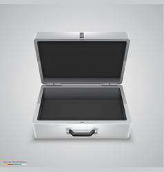 outdoor metal briefcase vector image