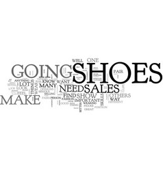 What your shoes say about your sales skills text vector