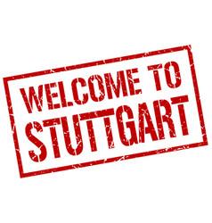 welcome to stuttgart stamp vector image