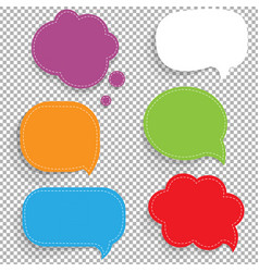 Color paper speech bubbles set vector