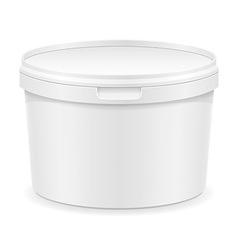 Plastic container for ice cream or dessert 01 vector
