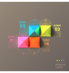 Business infographics pyramid concept top view 3d vector