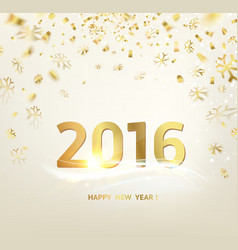 Happy new year card template vector