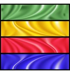 colorful modern banner set vector image