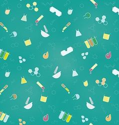 Funky seamless chemistry background vector
